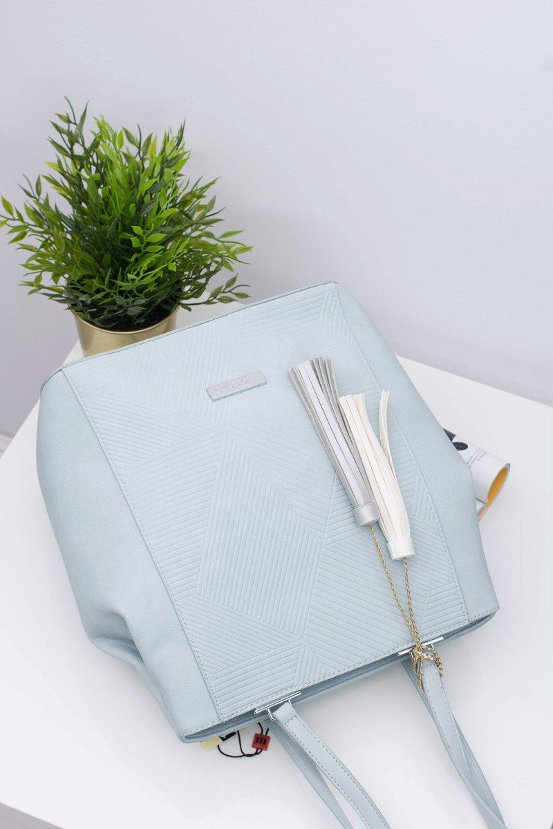 Women Blue Bag Shopper Monnari Sack