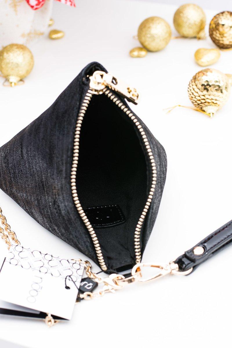 Women Handbag Pyramid Black Nobo