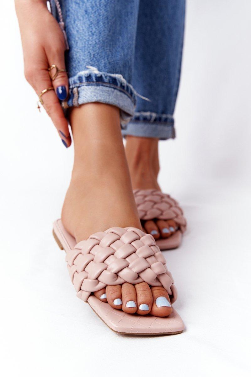 Women's Braided Slippers Beige Cheryl