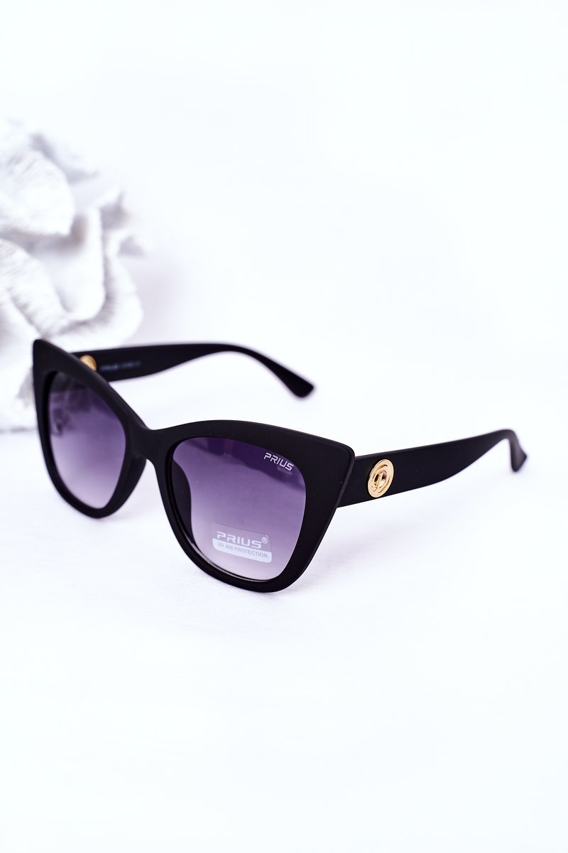 Women's Cat Eye Matt Sunglasses Black Ombre
