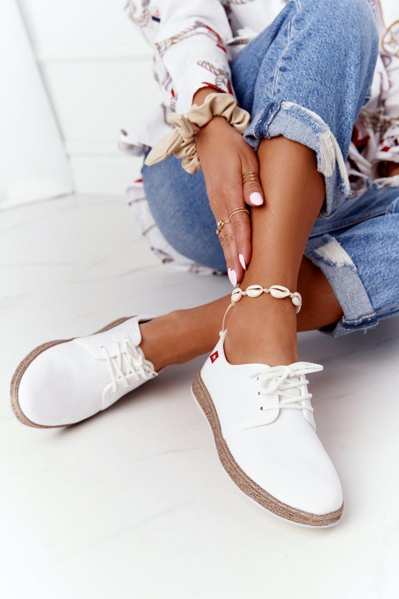 Women's Lace-up Espadrilles Big Star FF276043 White