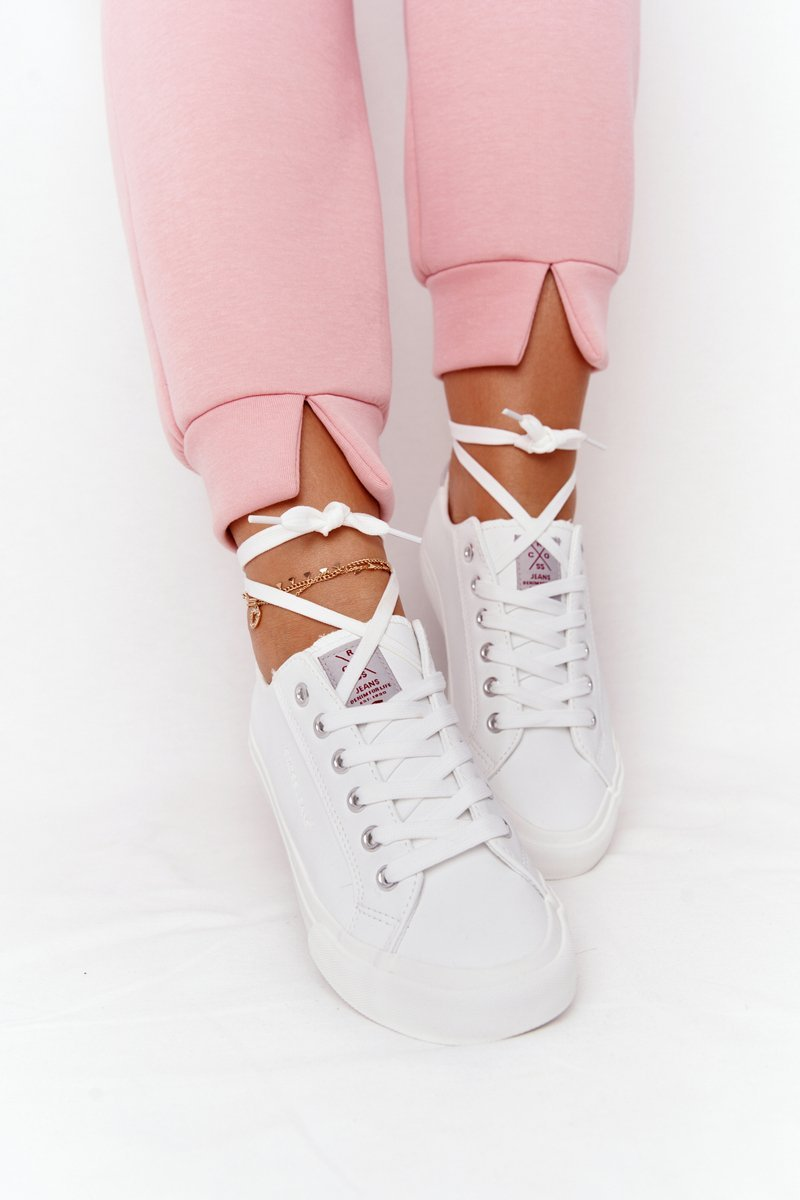 Women's Leather Sneakers CROSS JEANS HH2R4001C White