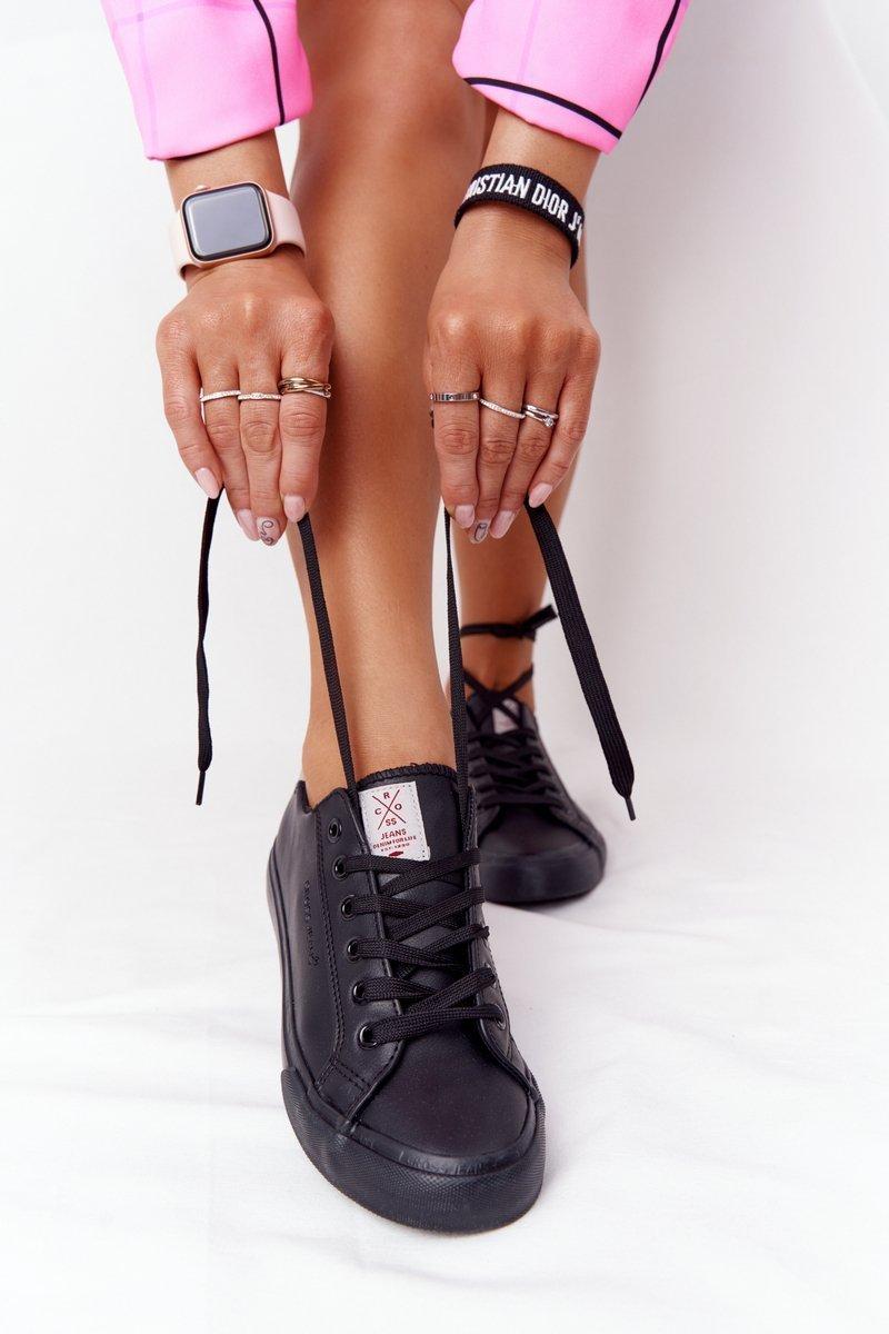 Women's Leather Sneakers CROSS JEANS HH2R4003C Black