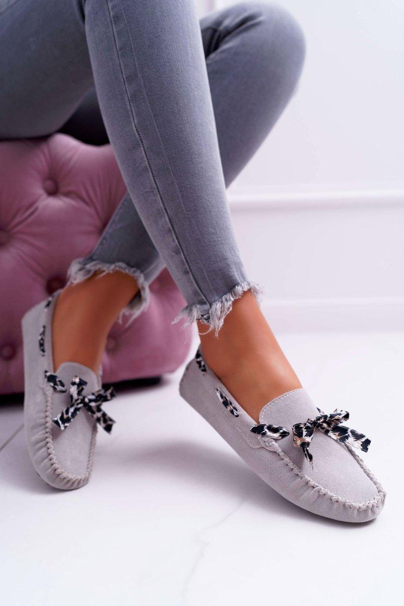 Women's Loafers Lu Boo Eco-suede Grey Plummy