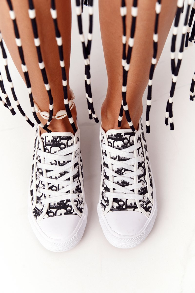 Women's Logged Sneakers Black-White Day Off