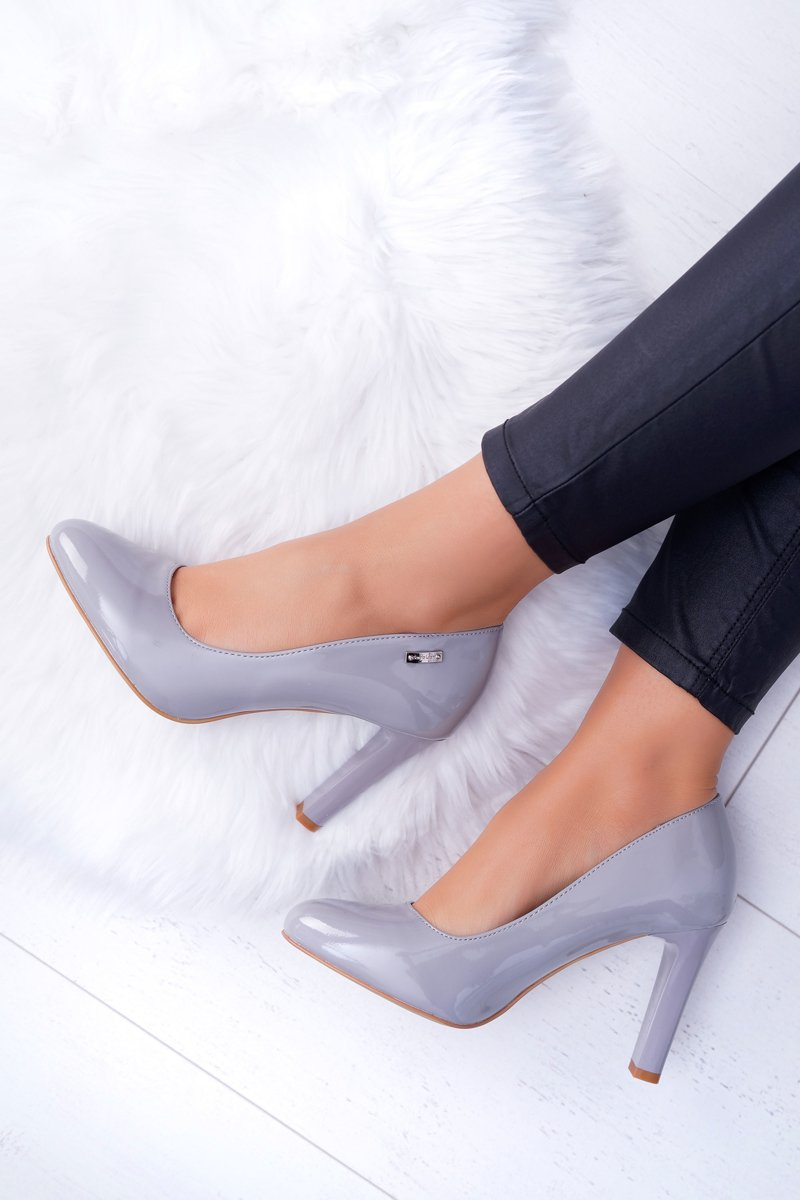Women's Pumps Varnished Grey Sergio Leone Campbell
