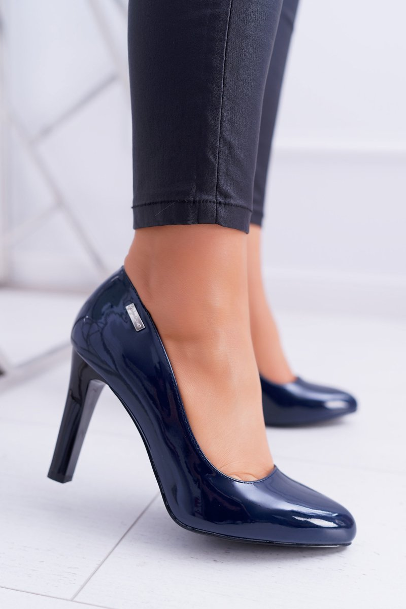 Women's Pumps Varnished Navy Blue Sergio Leone Campbell