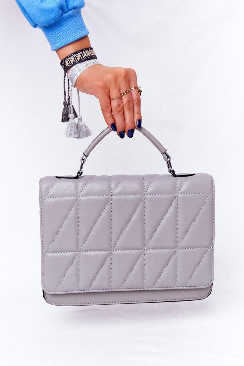 Women's Quilted Messenger Bag Monaco Grey