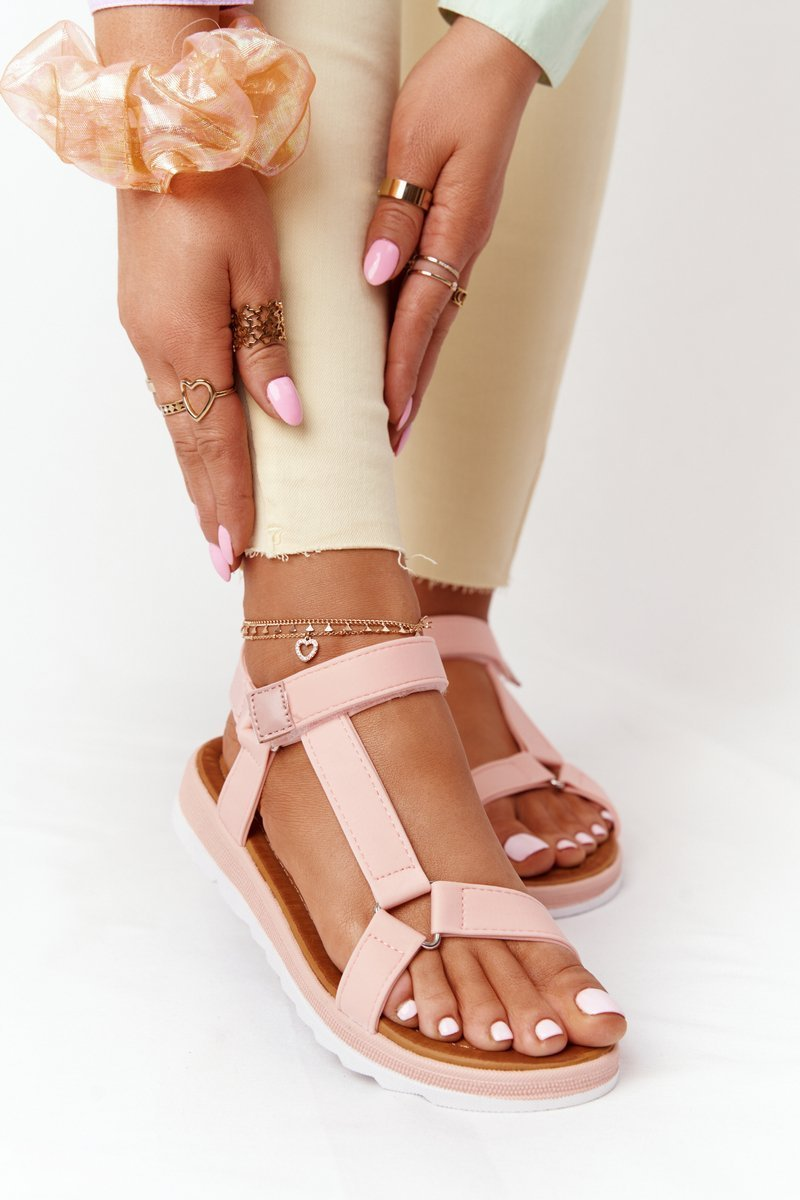 Women's Sandals On A Rubber Sole Coral Stranger