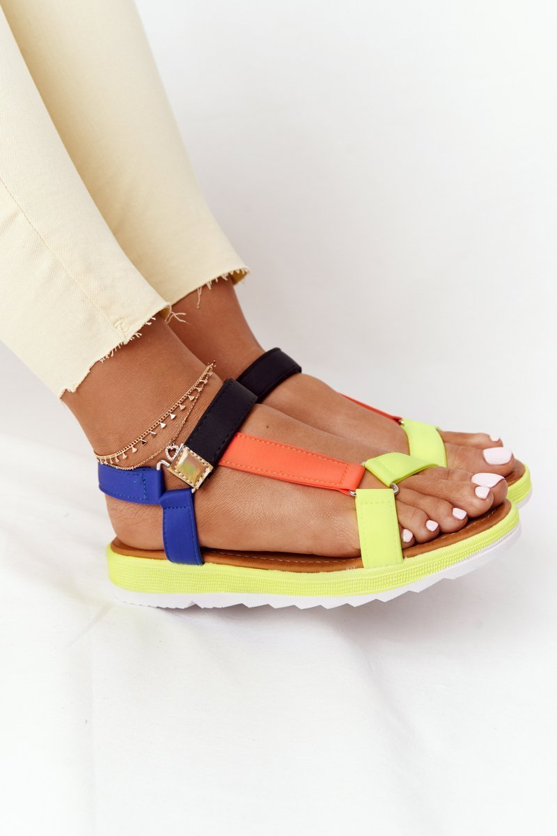 Women's Sandals On A Rubber Sole Multicolored Stranger