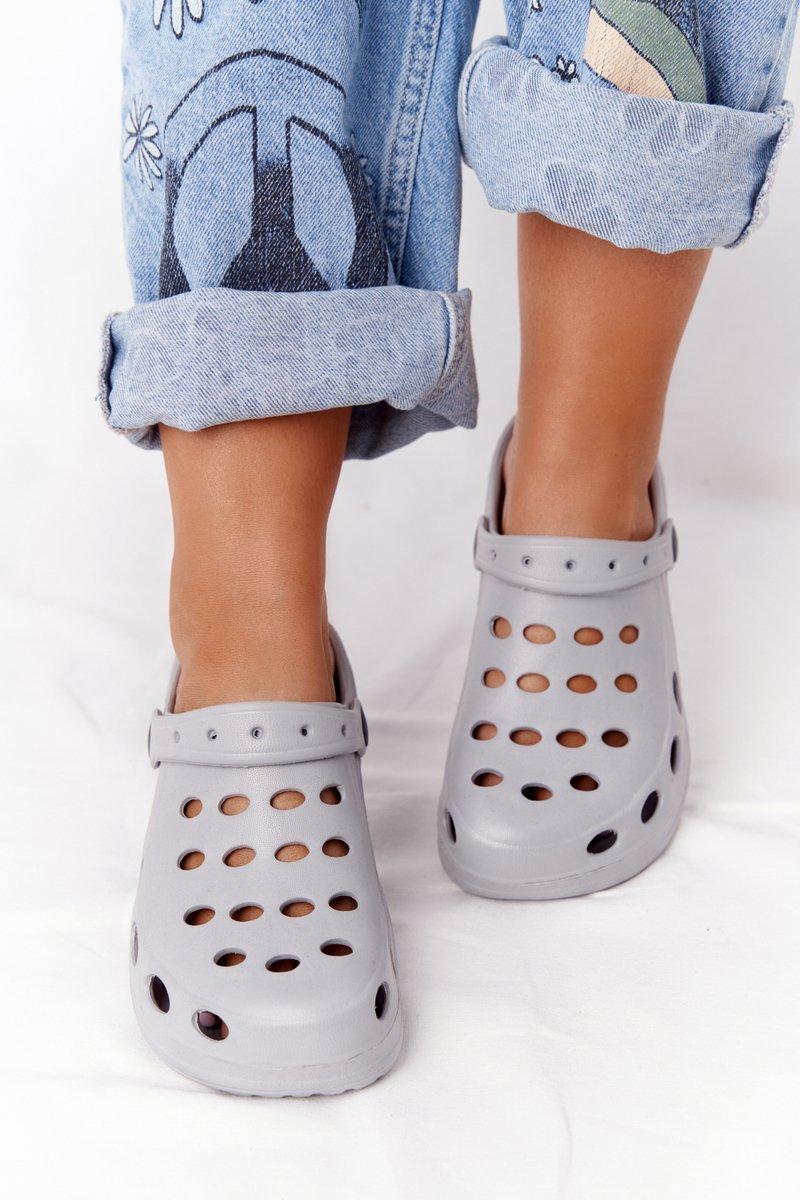 Women's Slides Foam Grey Crocs EVA