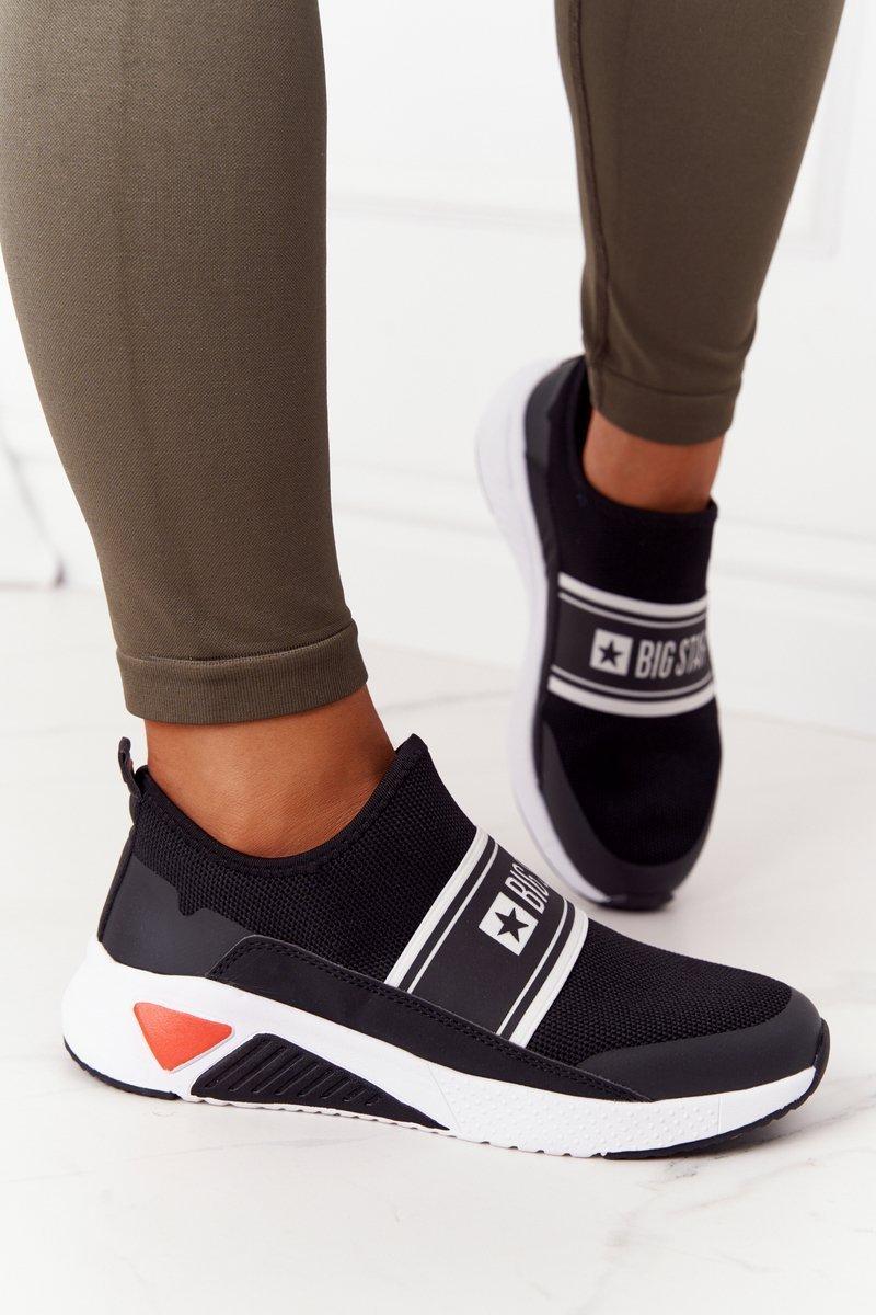 Women's Slip-On Sneakers Memory Foam Big Star HH274536 Black