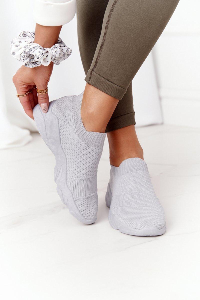 Women's Slip-on Sneakers Grey Yoga Class