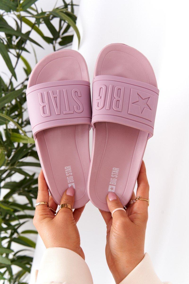 Women's Slippers Big Star HH274A041 Powder Pink