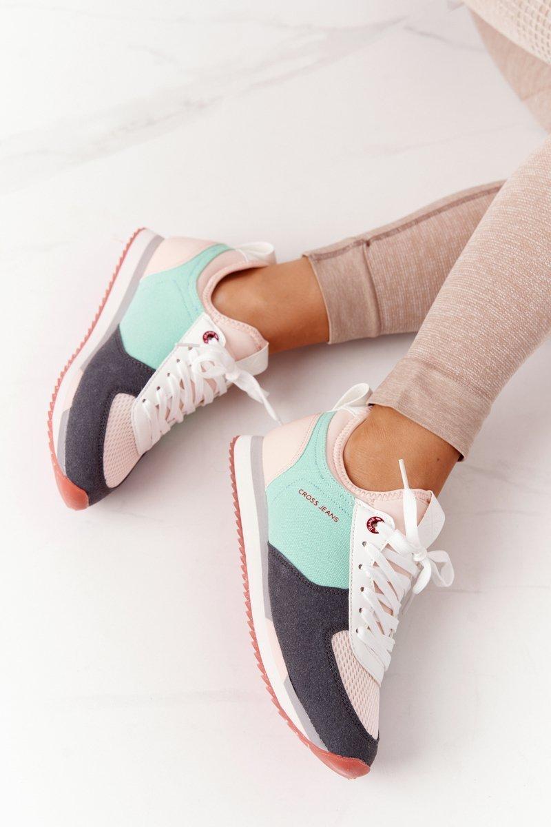 Women's Sneakers Memory Foam CROSS JEANS HH2R4049C Green-Pink