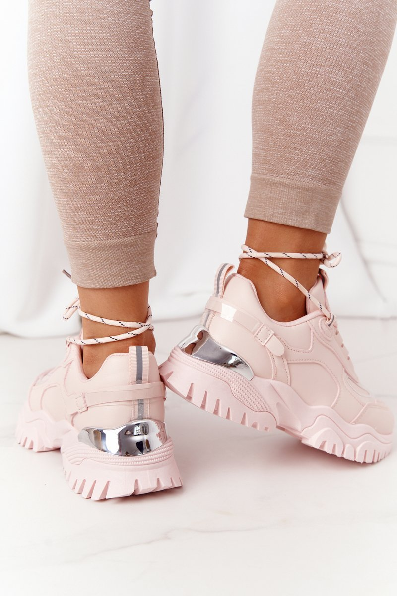 Women's Sneakers On A Chunky Sole Pink Influencer