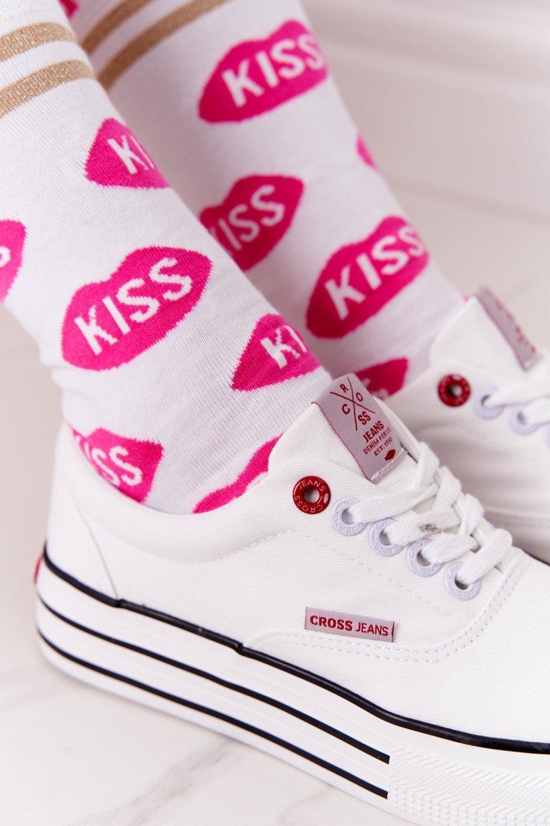 Women's Sneakers On A Platform CROSS JEANS FF2R4001C White