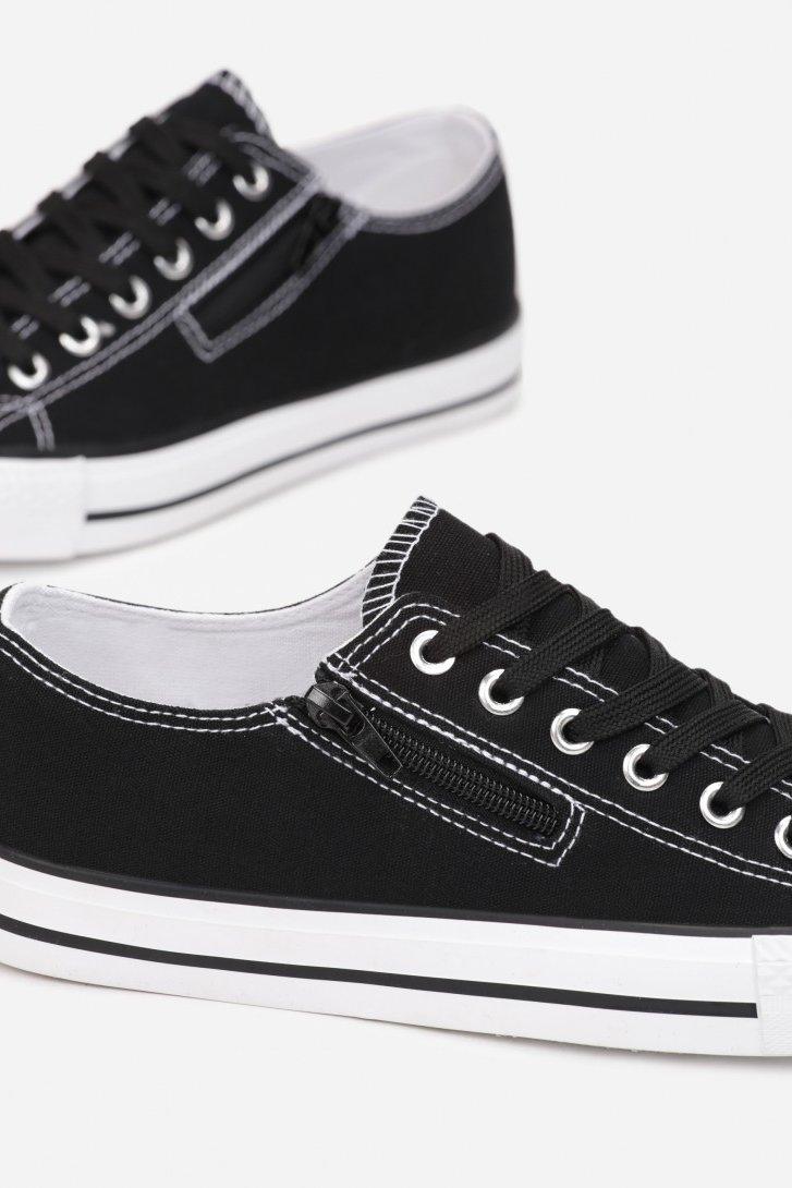 Women's Sneakers With A Zipper Black Malani