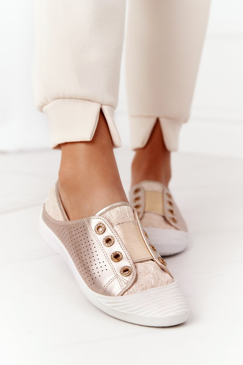 Women's Sneakers With Lace Lu Boo Gold