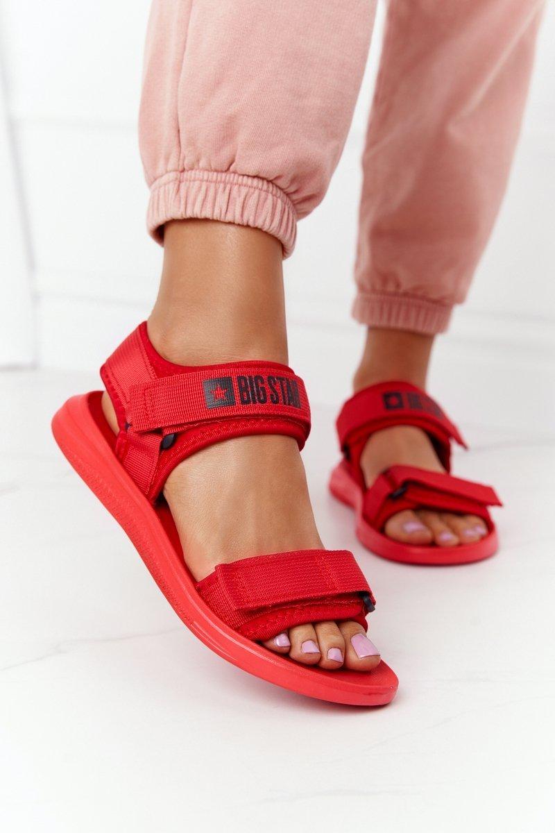 Women's Sport Sandals Big Star HH274A027 Red