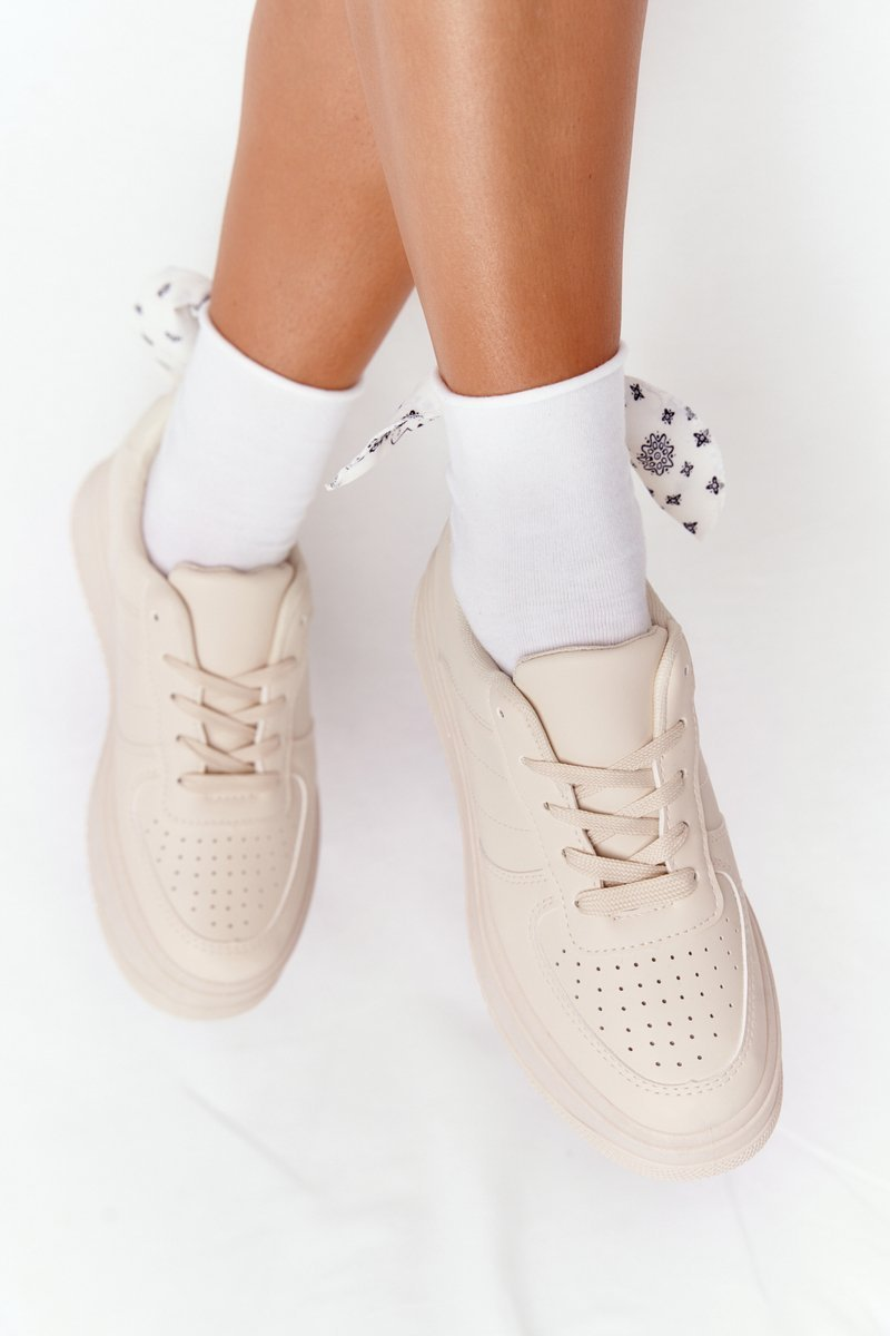 Women's Sport Shoes On A Platform Beige This Is Me