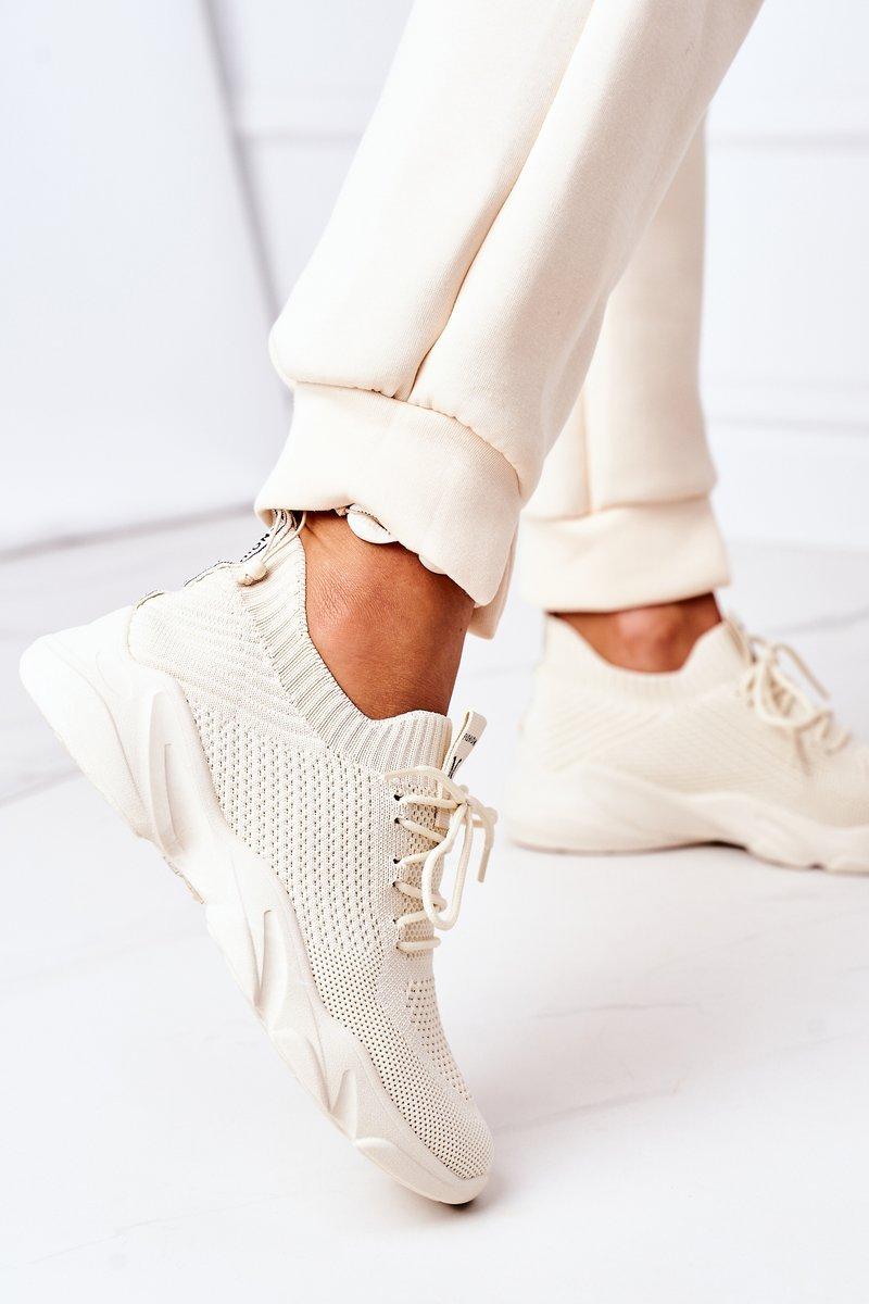 Women's Sport Shoes Sneakers Beige Fashion