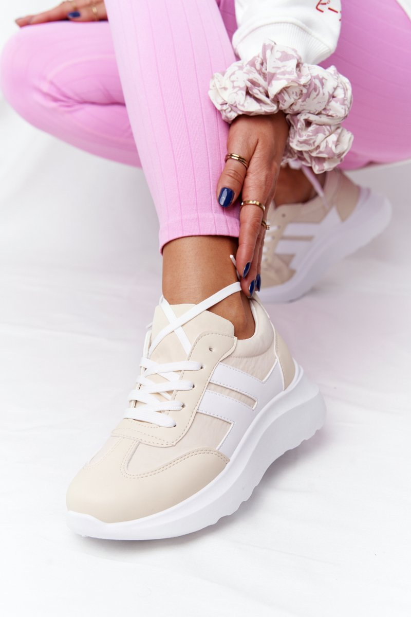 Women's Sport Shoes Sneakers Beige Holiday