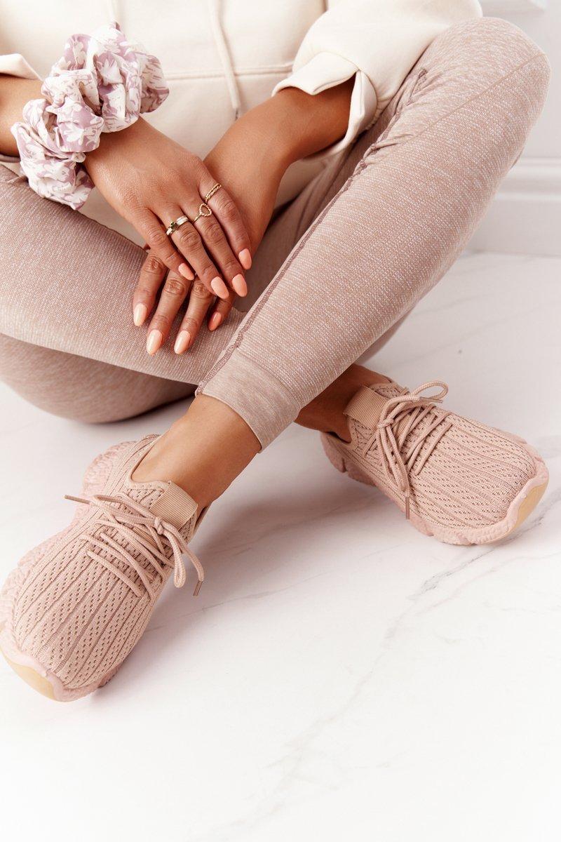 Women's Sport Shoes Sneakers Beige Training