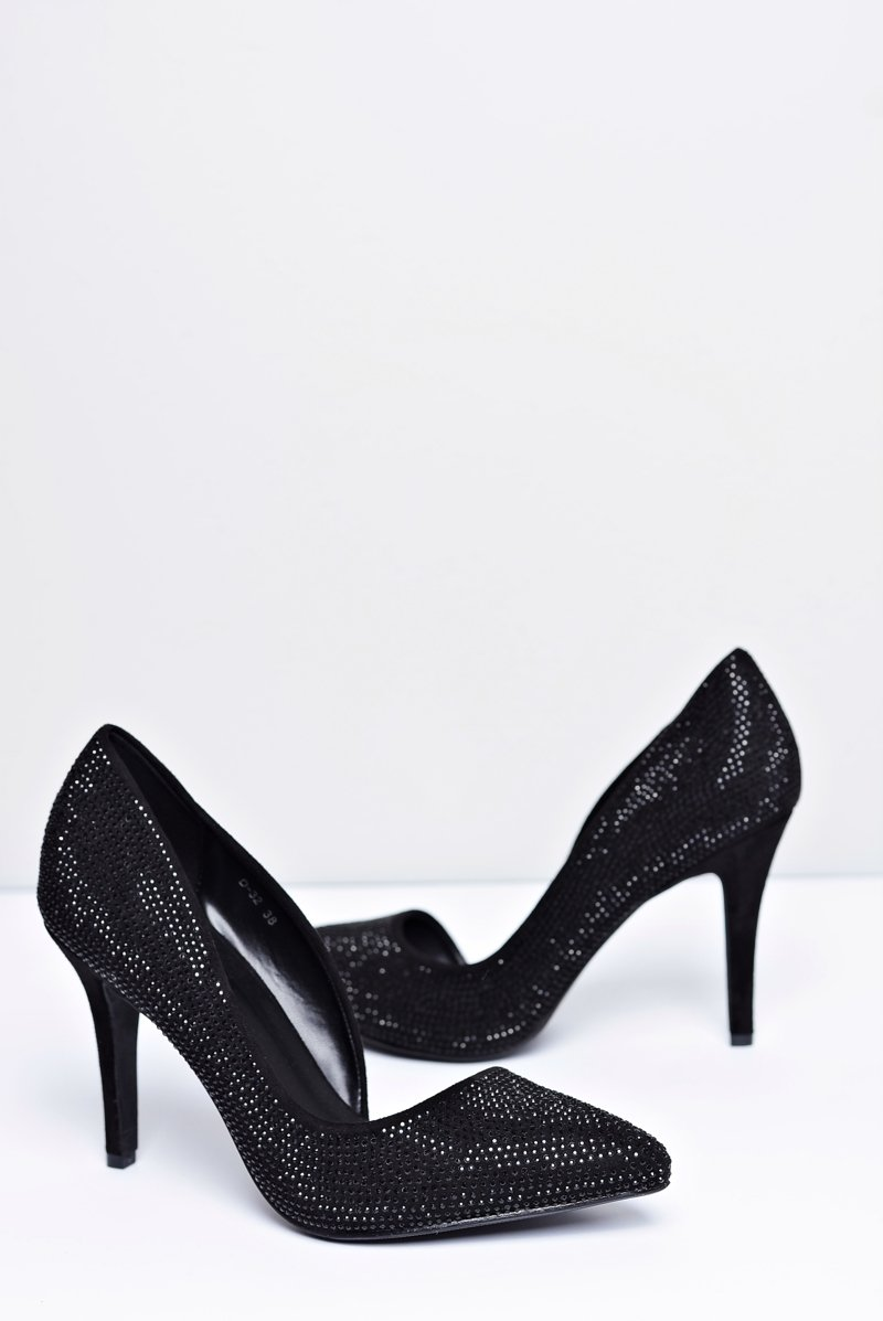 Women's Stilettos Black Asymetrical Santee