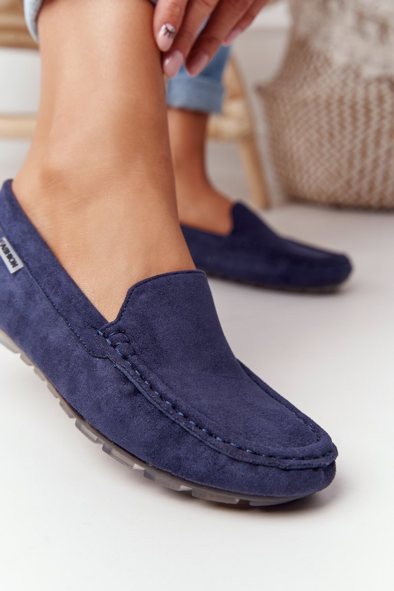 Women's Suede Loafers Navy Blue San Marino