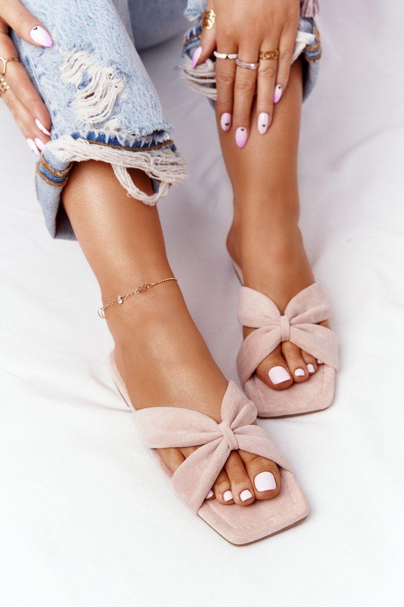 Women's Suede Slippers Pink Vanilla Sky