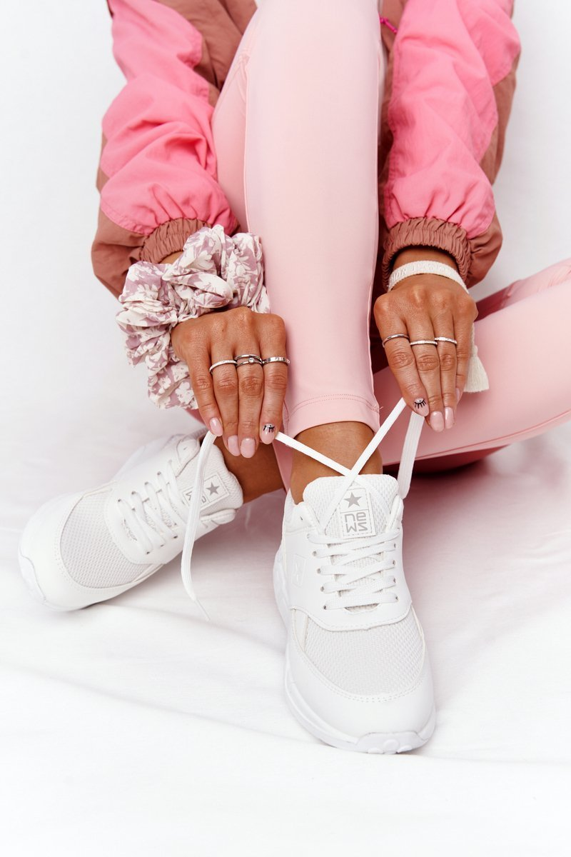 Women's Wedge Sneakers White Avery