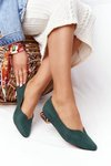 Ballerinas On Gold Heels Vinceza 21-10601 Green