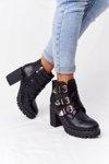 Boots On A Block Heel Lu Boo Black