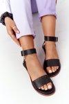 Leather Sandals Big Star HH274720 Black