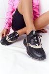 Leather Wedge Sneakers S.Barski Black-Gold