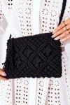Macrame Messenger Bag BRUNO ROSSI Black