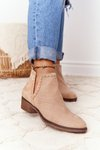 Openwork Boots With Cutouts Beige Clever