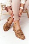 Openwork Loafers Sergio Leone MK735 Camel