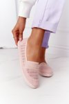 Openwork Slip-On Sneakers Navy Pink Chillout