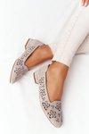 Openwork Women's Loafers Sergio Leone BL627 Cappuccino
