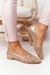 Openwork Women's Loafers Sergio Leone BL627 Shiny Beige