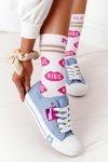 Openwork Women's Sneakers BIG STAR FF274037 Blue