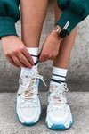 Sport Shoes On A Chunky Sole GOE HH2N4034 White-Pink