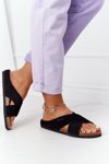 Suede Profiled Slippers Big Star HH274640 Black
