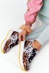 Suede Sport Shoes On A Platform GOE HH2N4003 Brown