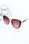 Women's Butterfly Sunglasses Brown-Beige Ombre