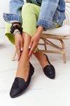 Women's Loafers Sergio Leone MK700 Suede Black