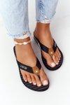 Women's Sliders Flip-Flops Big Star DD274A247 Black