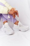 Women's Sneakers On A Chunky Sole White Bubbly